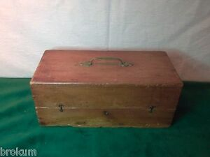 Early Wood Storage Box Chest Trunk