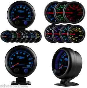 Glowshift Black 7 Color 3 3 4 Tachometer Gauge With Shift Light Gs C709