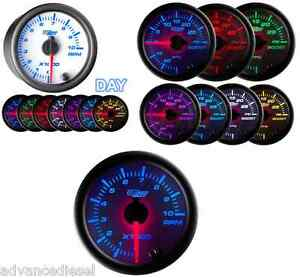 Glowshift White 7 Color 2 Tachometer Gauge Gs W710