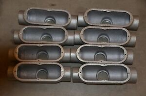 Crouse hinds 2 Tb Style Tb68 Iron Conduit Body W o Cover Lot Of 8