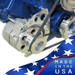 429 460 Ford Alternator Bracket Gm 1 Wire Mechanical Water Pump Bbf Billet