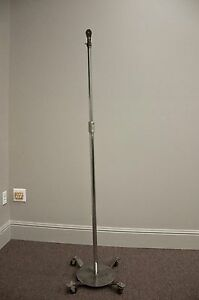 Vintage Industrial Lamp Stand With Fostoria And Grafco