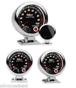 Glowshift Tinted Series 3 3 4 Tachometer Gauge With Shift Light Gs t09