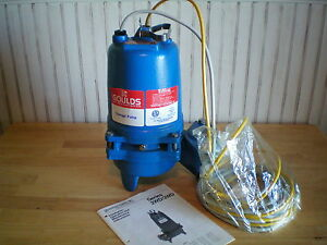 Goulds Waste Water Sewage Pump 2wd52 C0da Submersible 1 2 Hp 1 Phase New