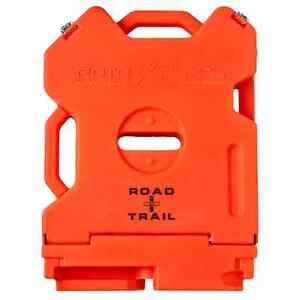 Empty Road trail Emergency Rotopax Fuel Packs Gas Cans