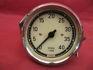 Vdo Mechanical Tachometer 4000 Rpm Dated 3 63