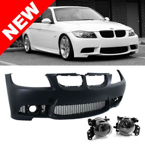 06 08 Bmw E90 E91 3 Series 4dr M3 Style Non Pdc Front Bumper Kit W Fog Lights
