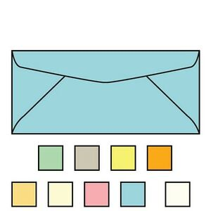 6 3 4 Regular Envelopes 3 5 8 X 6 1 2 24 Blue Recycled Pastel Acid Fr