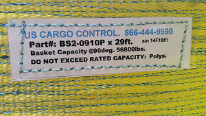 new Price heavy Duty Lift Strap Made By Us Cargo Control Adjustable 56800lbs