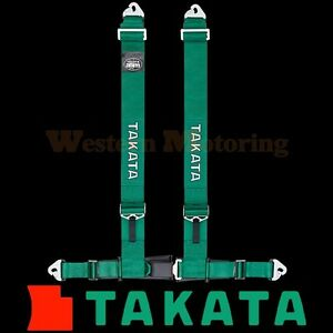 Takata Seat Belt Harness Drift Iii 4 Point Asm Green Snap On 70002us H2