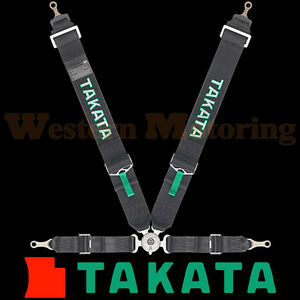 Takata Seat Belt Harness Race 4 Point Asm Black Bolt On 71001us 0