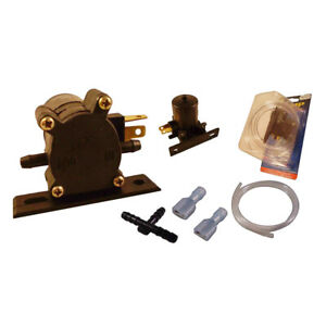 Windscreen Washer Pump Kit Universal Fit 12 Volt With Clear Hose T Piece