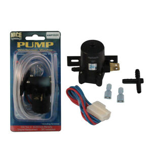 Windscreen Washer Pump Kit Universal Fit 24 Volt With Clear Hose T Piece