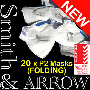 20x N95 Face Mask Folding Safety Disposable Valved Dust Painting Welding Fumes