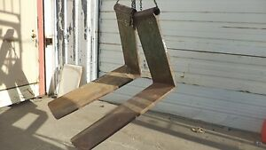 Wood Forks Hyster H 135 L 48 H 36 W 15 pin Hole 2 5