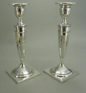 Gorgeous Pair Of Antique Sterling Silver Candlesticks Dominick Haff