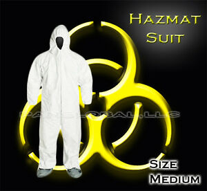 Chemical Hazard Kit Protective Coverall Hazmat Suits Masks Goggles Protection