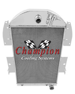 1934 35 36 Chevy Pickup V8 Engine With Trans Champion 3 Row Core Alum Radiator