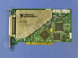 National Instruments Pci 6036e Ni Daq Card 16 Bit Analog Input Multifunction