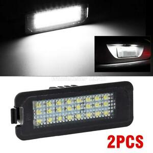 2x 8 5050 Smd Led License Plate Light Error Free For Vw Golf Eos