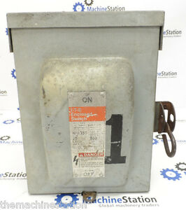 Siemens I t e General Duty Electric Enclosed Switch 600vac 3 phase 30 Amp