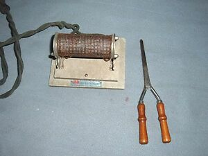 Rare Cool Vtg Antique Tool 1923 Electric Curling Iron Heater Works Sular Brand