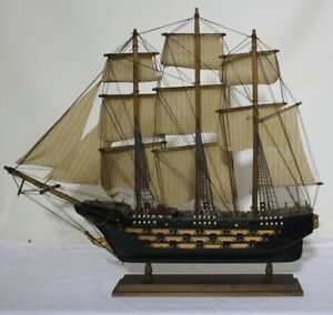 Hms Victory 25 Abt 1 120 Scale Crafted Wooden Model Ship Free Mainland Postage