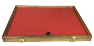 Oak Wood Display Case 18 X 24 X 2 For Arrowheads Knifes Collectibles More