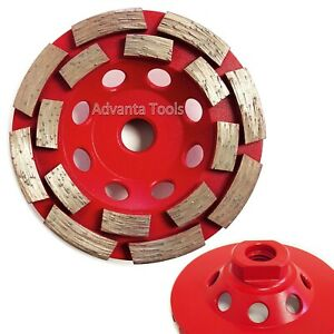 4 5 Double Row Concrete Diamond Grinding Cup Wheel 16 Segs 5 8 11 Threads