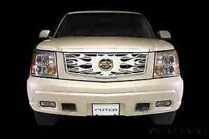 Putco 89115 Flaming Stainless Steel Grille Overlay For 02 06 Cadillac Escalade