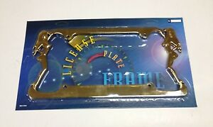 Girls Twins Gold Metal License Plate Frame Lpf 443g