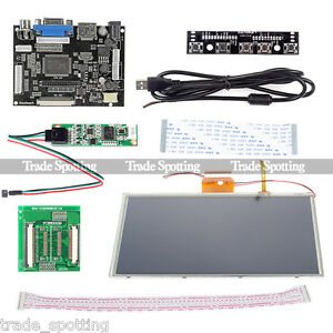 9 Inch Tft Lcd Monitor Touch Screen Driver Board Hdmi Vga For Raspberry Pi B