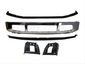 For 2008 2010 Ford F250 F350 2wd Front Bumper Chrome Pad Spoiler Mounting Plate