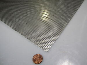 Perforated 304 Stainless Steel Sheet 030 Thick X 24 X 24 094 Hole Dia