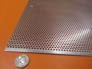 Perforated 304 Stainless Steel Sheet 030 Thick X 24 X 24 125 Hole Dia