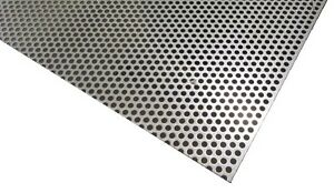 Perforated 304 Stainless Steel Sheet 048 Thick X 24 X 24 250 Hole Dia