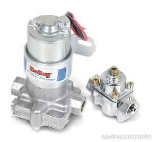 12 802 1 Holley Performance 110 Gph Blue Electric Fuel Pump With Regulator