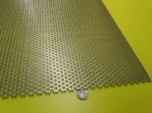 Perforated 316 Stainless Steel Sheet 060 Thick X 36 X 40 250 Hole Dia