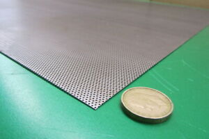 Perforated Steel Sheet 024 Thick X 24 X 24 033 Hole Dia