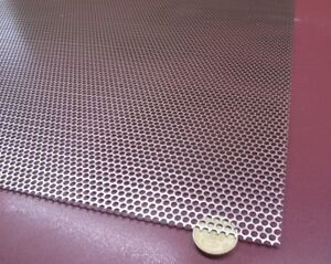 Perforated Staggered Steel Sheet 036 Thick X 24 X 24 140 Hole Dia