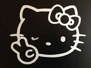 1pcs 4 X 5 Hello Kitty Car Sticker Emblem Label Window Laptop Ipad Stick K2