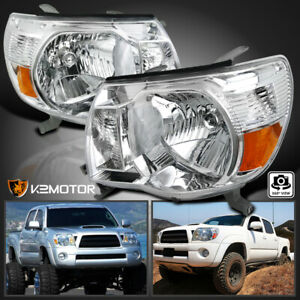 For 05 11 Toyota Tacoma Clear Headlights 2005 2011 Head Lights Lamps Left right