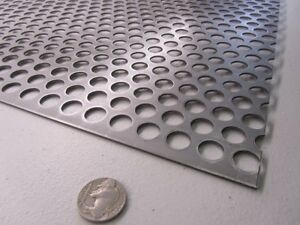 Perforated Staggered Steel Sheet 075 Thick X 24 X 24 500 Hole Dia