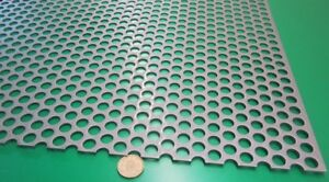 Perforated Straggered Steel Sheet 060 Thick X 36 X 40 500 Hole Dia