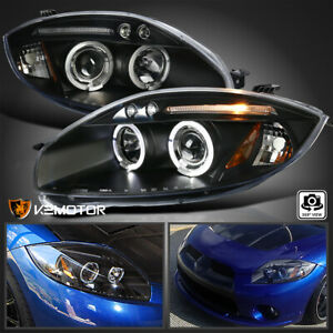 2006 2011 Mitsubishi Eclipse Led Projector Headlights Pair Black