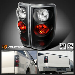 Fits 2004 2008 Ford F150 F 150 Rear Brake Tail Lights Lamps Black Left Right