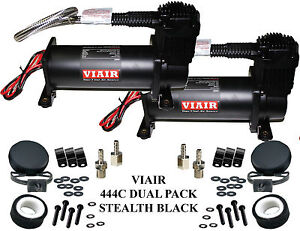 Viair 444c Black Dual Pack Compressors Air Bag Ride Suspension Off Road 200 Psi