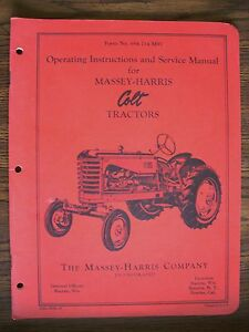 Massey Harris Colt Owners Manual