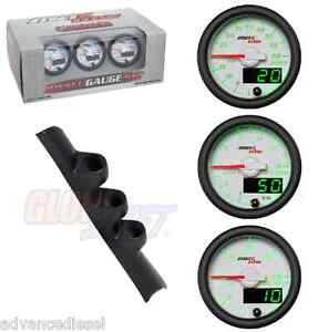 Gsmaxtow White Diesel Set Boost Pyro Fuel Pres Black Pod For 94 97 Dodge Cummins