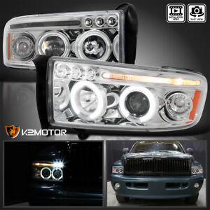 For 1994 2001 Dodge Ram 1500 1994 2002 2500 3500 Led Halo Projector Headlights